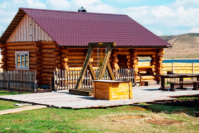 Замечательная русская банька на дровах, в черте Красноярска