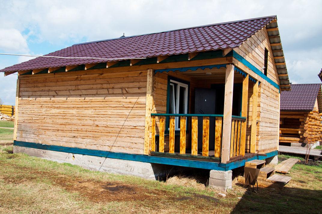 Рубленная Сосновая баня на дровах «малая»