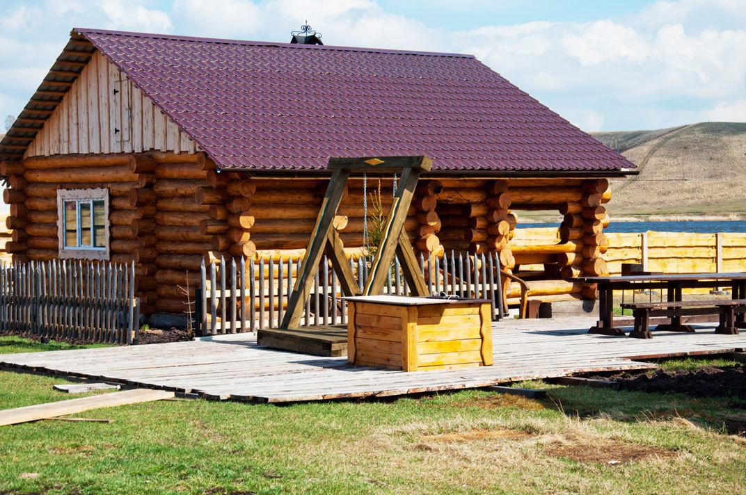 Рубленная Кедровая баня на дровах